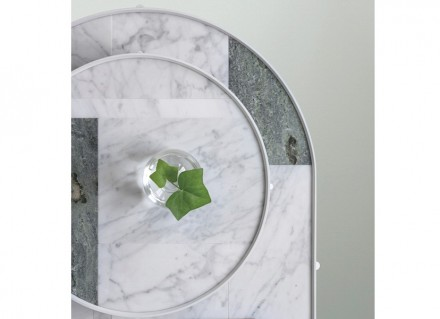 "Note Design Studio, Studio Norm Architects: ""Patch Marble Tables""."