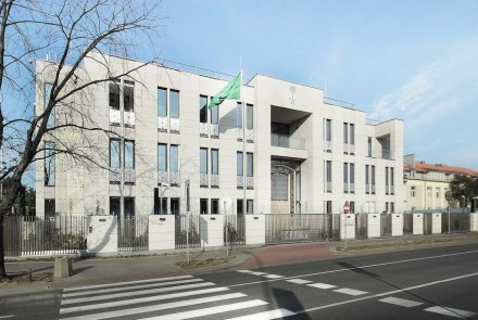 One of the special prizes was awarded for architecture of the Saudi Arabian Embassy in Warsaw.