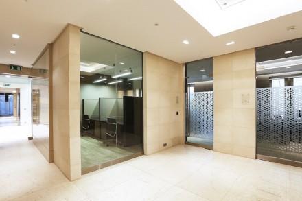 The interior is clad in Spanish Crema Ole Limestone.