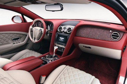 Bentley's super-tin stone veneer right dashboard. Photos: Bentley