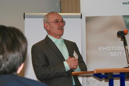 Anton Hauser, Landesinnungsmeister im Burgenland, bei seinem Vortrag.