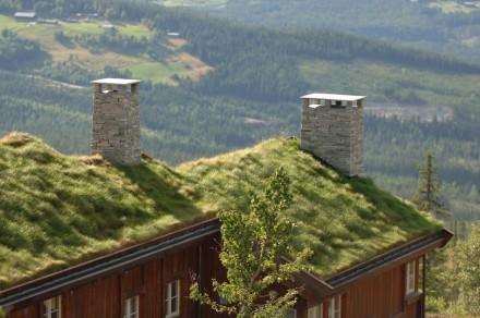 Schornsteine aus Schiefer in Norwegen.