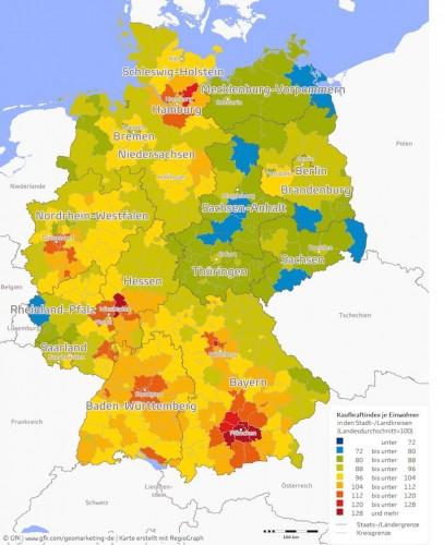 Kaufkraft der Deutschen.
