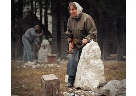 People of all ages will be working on stone during the festival.