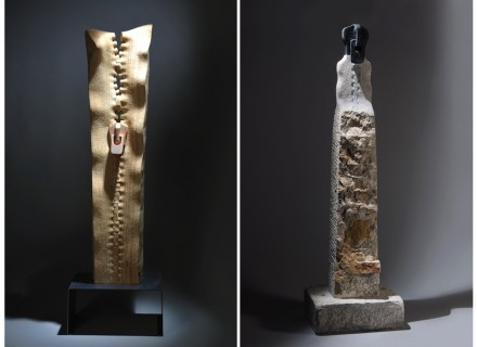 """Serdar Kaynak: left: """"Naive 1"""", right: """"Eternal Journey""""."""