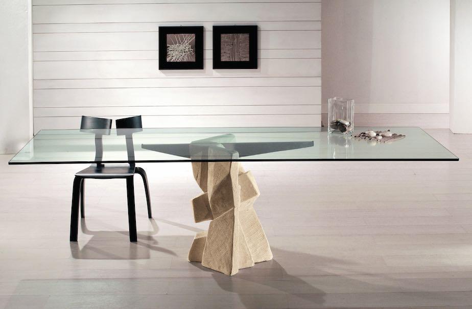 Laboratorio del marmo nuovi tavoli samurai e shiodome con piede in pietra naturale stone - Tavolo con base in pietra ...