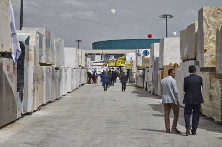 The stone block market offered little encouragement in 2015. Photo of the Izmir Trade Fair 2015. Photo: Izfas
