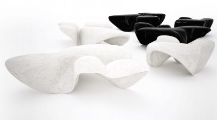 Zaha Hadid, Citco: Mercuric low tables.