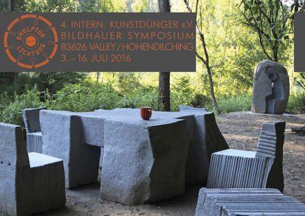 Internationales Bildhauer Symposium des Vereins Kunstdünger e.V., 03.-16. Juli 2016, Valley/Hohendilching.