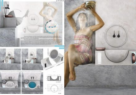 Professional designers, Turkish bath and bathroom, First Prize: Sibel Kılıç.