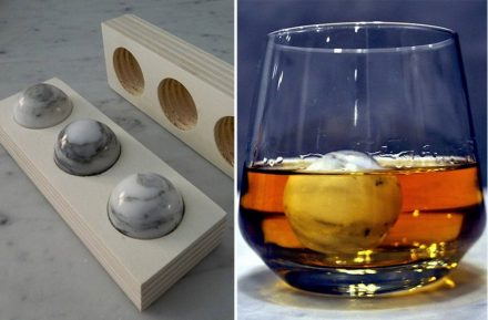 Be-different also produces marble spheres made for cooling beverages.