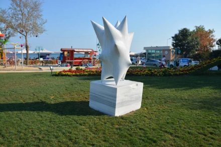 Artist's work of the 1st Bisanthe Stone Sculpture Symposium 2015.