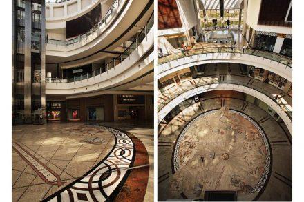 Piri Reis' famous nautical map as a mosaic in Ankara's Panora Mall.