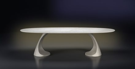 "Table ""Pedra"" by Designer Massimo Iosa Ghini for Grassi Pietre."