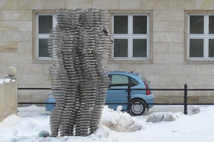 Der Golem, Arbeit des Bildhauers David Černý, Poznan. Foto: Foto: MOs810 / Wikimedia Commons