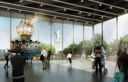 The new Statue of Liberty Museum.
