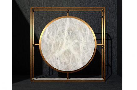 GONG by: Giorgio Canale, Company: Cereser, Company partner: Folio panel – Cifralluminio, T.L.C. Carpenteria Metallica, Material: White Diamond.