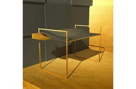 KINTSUGI by: Giorgio Canale, Company: Tenax, Ionia Pietre Naturali, Material: Pietra Serena.