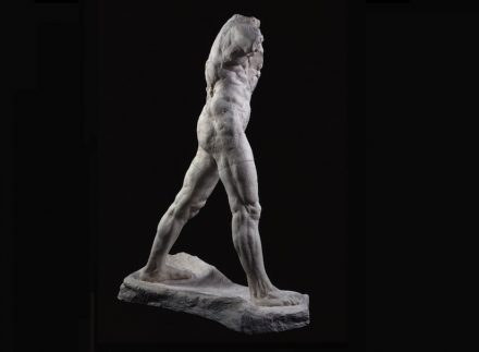 "Auguste Rodin: ""The Walking Man"", large version, 1907, patinated plaster, 218.3 x 160.2 x 74.9 cm. Paris, Musée Rodin. Photo: Musée Rodin / Adam Rzepka"