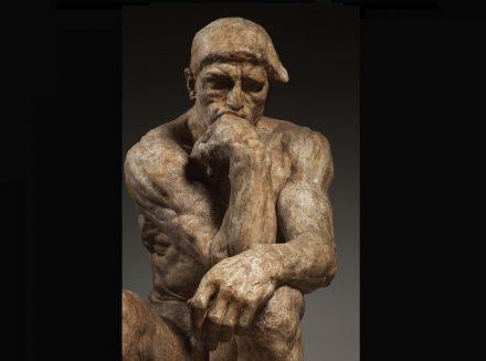 "Auguste Rodin: ""The Thinker"", large version, 1903, patinated plaster for bronze casting, 182 x 108 x 141 cm. Paris, Musée Rodin. Photo: Musée Rodin / Christian Baraja"