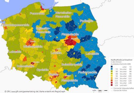 Kaufkraft Polen 2016.