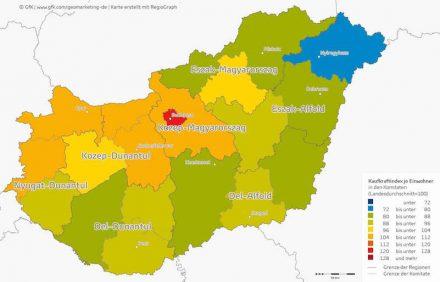 Kaufkraft Ungarn 2016.