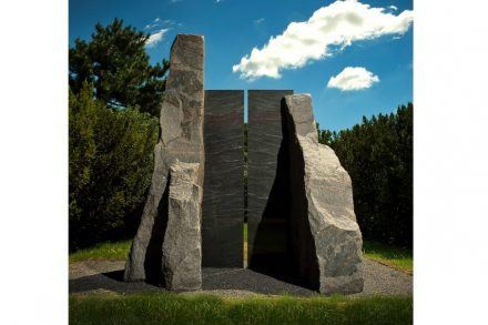 "Elyn Zimmerman, ""Portal Lethe"", 1992, granite, 123 x 96 x 81 inches, New Orleans Museum of Art, Gift of Donna Perret Rosen and Benjamin M. Rosen, Photo: Ken Ek."