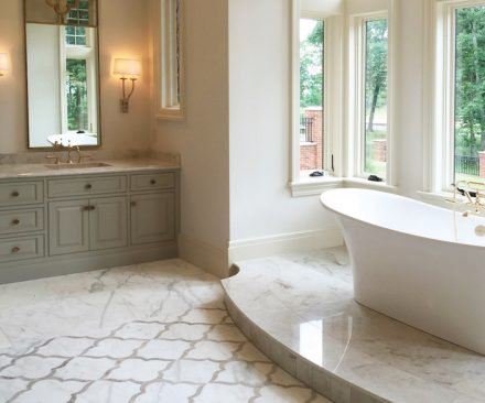 Mia bsi pinnacle awards projects with stone that stand for Bath remodel huntsville al
