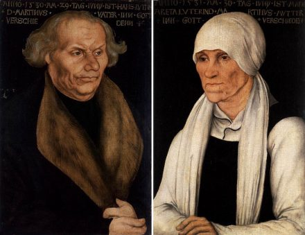 Luthers Eltern Hans und Margarethe Luther (Lucas Cranach der Ältere). Quelle: Wikimedia Commons