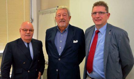 At SNROC's general assembly. Left: Pierre Brousse. Photo: Claude Gargi, Pierre Actual magazine.