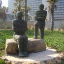 "Asa & Yehoshafat by Boaz Vaadia im Independence Park, Tel Aviv. Photo: ד""ר אבישי טייכר / Wikimedia Commons"
