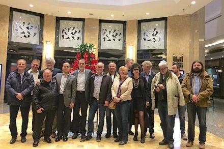 Ein Teil der Euroroc-Besuchergruppe nach dem Farewell-dinner. Foto: Reiner Krug