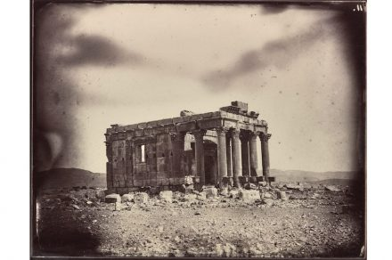 Temple of Baalshamin, Palmyra, Syria, albumen print, 1864 (negative by Louis Vignes, photograph printed by Charles Nègre).