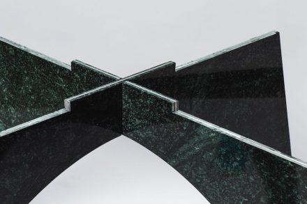 """""""Giotto"""". Designer: Moreno Ratti; manufacturer: Chia-Tai Marble Co., Ltd.; material: Serpentinite, Aluminium"""