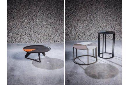 "<a href=""https://www.stoneitaliana.com/""target=""_blank"">Stone Italiana</a>: ""Prospettiva Stone"" aus Quarz Kompositmaterial. Links: Design Lorenzo Palmeri, rechts: Design Arseny Leonovich."