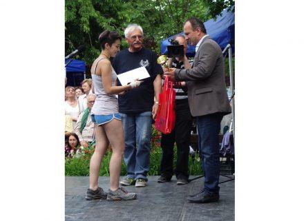 Dominika Nemeth bei der Siegerehrung.