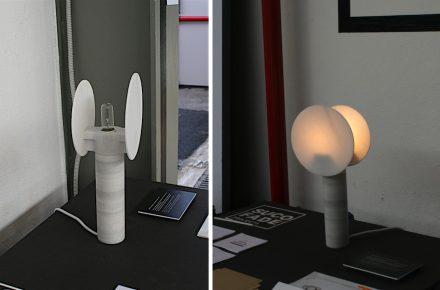 """Ventura Lambrate: Marmorlampe """"Giro"""" von Juan Carlos Fanes López, Design collective nou+u (UCH CEU Vanencia)."""