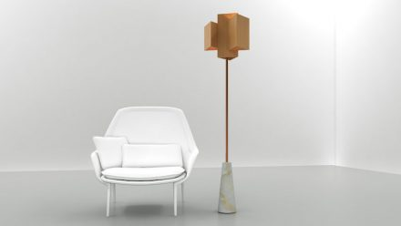"Ventura Lambrate: Lampe mit Naturstein, <a href=""http://www.ionproject.com/unique/""target=""_blank"">ION Project Lighting</a>."