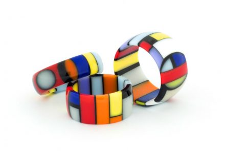Franco Eccel: rings made of engineered stone.