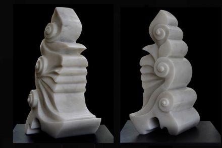 """Rumi IV"", 50x23x23 cm, Mugla marble."