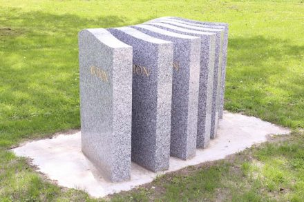 "Ortrun Skala, ""Class in Masses"": gravestones have been mass-produced since the 1960's ready for use and delivered straight from Asia. Since then, stone masons began to mutate to mere sales representatives rather than craftsmen and designers."