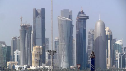 Die Skyline von Doha, Al Bida Park, Westbay (2013). Jazeem Hamza / Wikimedia Commons