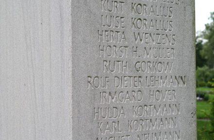 Andenkenstele auf dem Friedhof Hagen-Vorhalle.