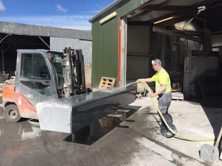 McKeon Stone: Kilkenny Blue Limestone benches for Facebook.
