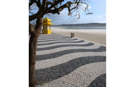 Just like the Copacabana: Foz do Arelho, Portugal.