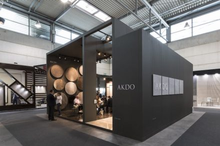 """Best Communicator Award, Stone, International: First Prize to Akdo Silkar, Turkey """"for a huge variety of shapes and sizes ensure that marble surfaces can anticipate a far-reaching and unusual range of applications for interior finishes"""". Photo: Luca Morandini"""