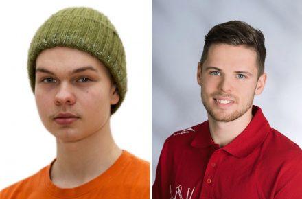 Links: Juuso-Petteri Kerkkänen, Finnland, Teilnehmer; rechts: Robert Moser, Österreich, Teilnehmer.