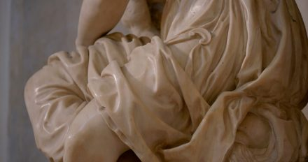 Detail of Allegory of Painting, tomb of Michelangelo.
