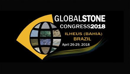 Logo of the Global Stone Congress 2018.