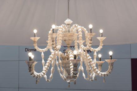 """""""Rezzonico"""", Design: Raffaello Galiotto, Company: Intermac; Partner: Seguso Gianni; Material: Marmor Palissandro by Grupo Tosco Marmi."""